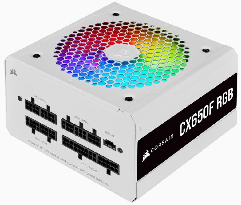 Corsair CX650F RGB 80 Plus 650W White