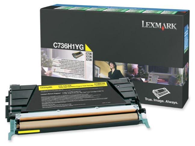 Rašalinio spausdintuvo kasetė Lexmark C736H1YG Cartridge Yellow