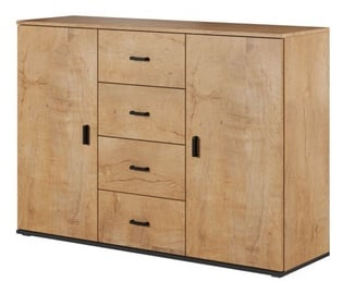 Cama Meble Uni Chest Of Drawers Oak/Black