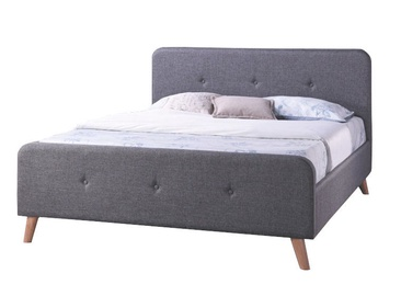Signal Meble Bed Malmo 160x200cm Gray