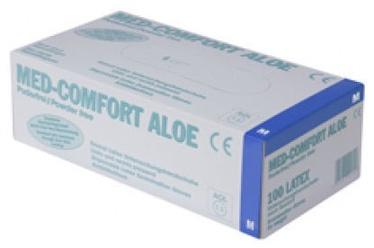 Рабочие перчатки Ampri Med Comfort Aloe Latex Powder Free Gloves S 100pcs