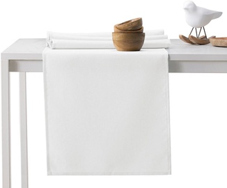 DecoKing Pure HMD Tablecloth White 40x140
