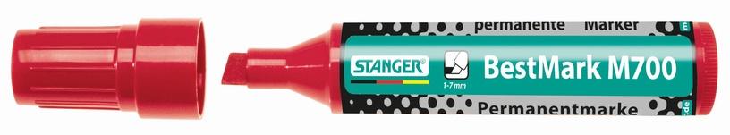 Veekindel marker Stanger BestMark M700 Permanent Marker 1-7mm 6pcs Red 717002