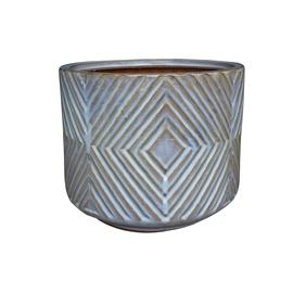 Вазон Domoletti IP17-1322_L, серый