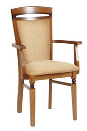 Ēdamistabas krēsls Black Red White Bawaria Dkrs P Walnut/Beige, 1 gab.