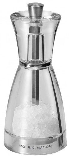 Cole and Mason Precision Pina Acrylic Salt Mill 125mm