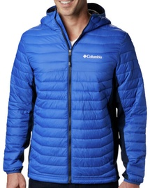 Columbia Powder Pass Hooded Mens Jacket 1773271437 Azul/Collegiate Navy M