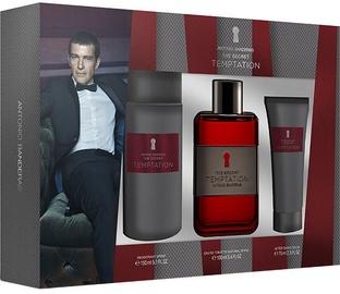 Набор для мужчин Antonio Banderas The Secret Temptation 100 ml EDT + 75 ml Aftershave Balm + 150 ml Deodorant Spray