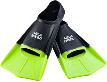 Pleznas Aqua-Speed Training Fins, melna/zaļa, 45 - 46