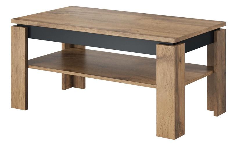 Kafijas galdiņš Cama Meble Toro, pelēka/ozola, 1000x550x470 mm