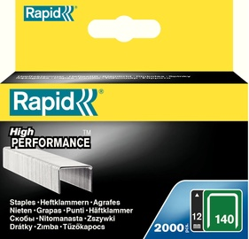Rapid Flatwire 140/12mm Green Staples 2000pcs