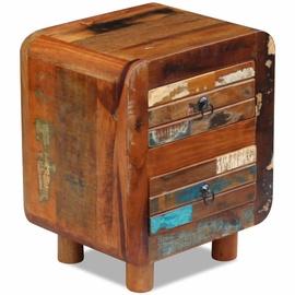 Ночной столик VLX Solid Reclaimed Wood, многоцветный, 43x33x51 см