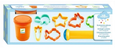 Djeco 8 Dough Cutters And 1 Rolling Pin