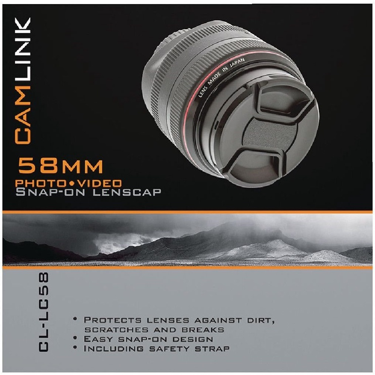 CamLink Snap-On Lens Cap 58mm