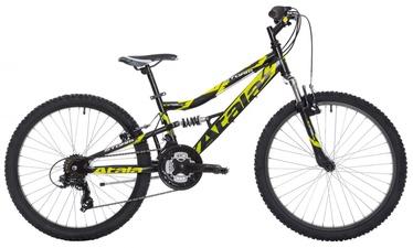 "Vaikiškas dviratis Atala Storm VB 24"" Black Neon Yellow Matt"