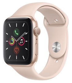 Išmanus laikrodis Apple Watch Series 5 44mm GPS Gold Aluminium Case with Pink Sand Sport Band S/M and M/L