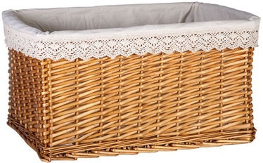 Home4you Basket Max 2 52x37xH28cm Lace / Brown