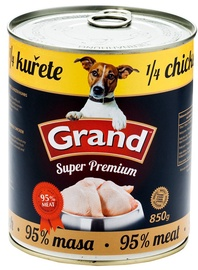 Konservi suņiem Grand Superpremium 1/4 Chicken 850g