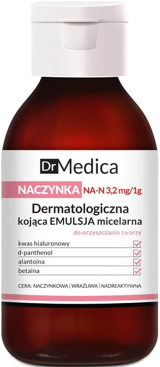 Makiažo valiklis Bielenda Dr. Medica Capillaries Dermatological Soothing Micellar Emulsion, 250 ml