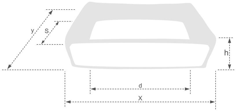 Лежанка Amiplay Babydoll Sofa S 58x46x17cm Gray