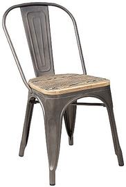 Стул для столовой Signal Meble Loft Walnut/Graphite, 1 шт.