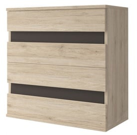 Idzczak Meble Mediolan 4S Chest Of Drawers Sonoma Oak Black