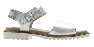 Clarks 26142787 Ferni Fame Silver Leather 41.5