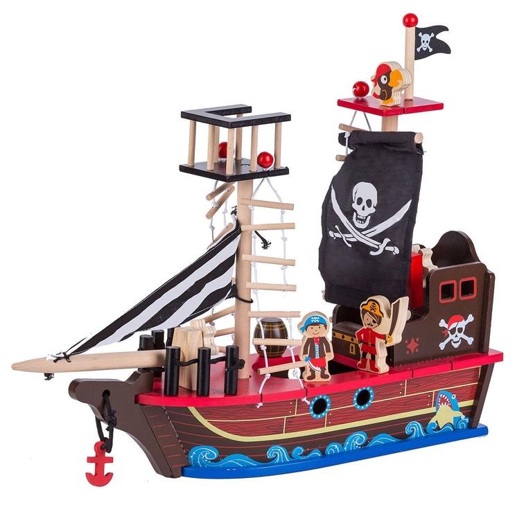 EcoToys Wooden Pirate Ship