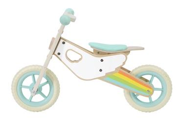 """Līdzsvara velosipēds 60003, zila/balta, 10"""""""