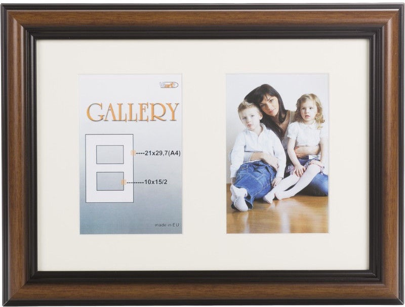 Victoria Collection Photo Frame Ema Gallery 21x29,7 2x 10x15 Brown
