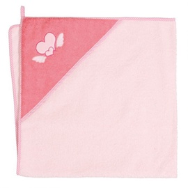 Ceba Baby Bath Towel Hearts Pink