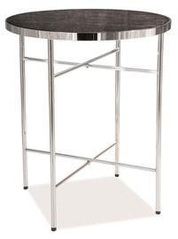 Kafijas galdiņš Signal Meble Ibiza C Marble/Chrome, 420x420x510 mm