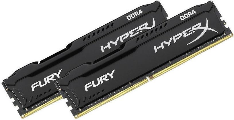 Kingston HyperX Fury Black KIT OF 2 8GB 2666MHz DDR4 CL15 HX426C15FBK2/8