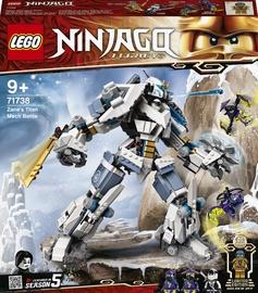 Конструктор LEGO Ninjago Битва с роботом Зейна 71738, 840 шт.
