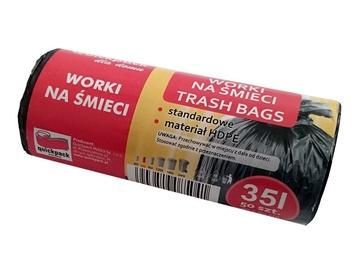 Atkritumu maisi Vigo Trash Bags 35L 50pcs Black