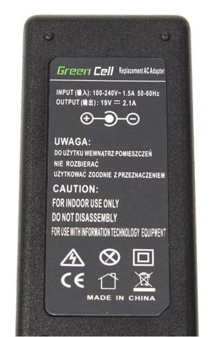 Green Cell Laptop Power Adapter 40W 2.1A