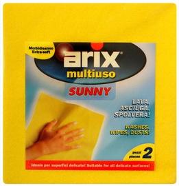 Arix Sunny Multi-Purpose Cloth Yellow 380x400mm 2pcs