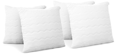 AmeliaHome Reve Pillow Set White 40x40cm 4pcs