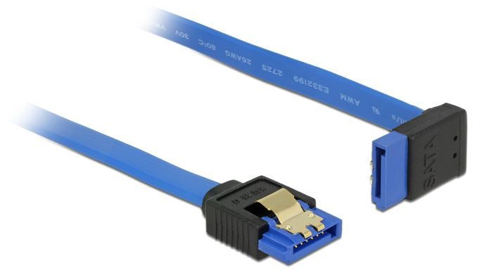 Delock Cable SATA / SATA 0.30m Blue