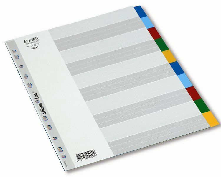 Bantex Strong Line Divider Index 1-10 Coloured