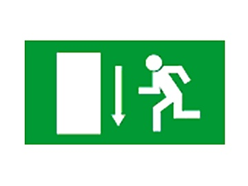 Exit Here Sign Sticker 240x135mm Green/White