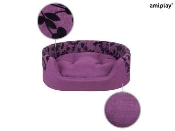 Кровать для животных Amiplay Euphoria, черный/фиолетовый, 450x540 мм