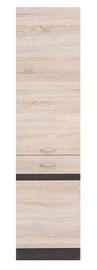 Black Red White Kitchen Bottom Cabinet Left Junona Line D2D/50/195L Sonoma Oak/Wenge