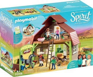 Playmobil Spirit Riding Free Barn With Lucky Pru & Abigail 70118