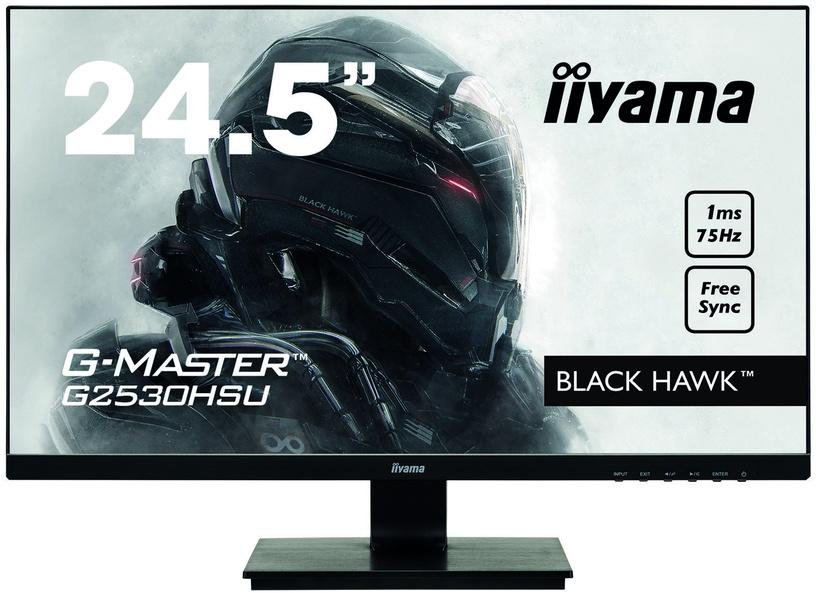 """Monitorius Iiyama G-Master Black Hawk G2530HSU-B1, 24.5"""", 1 ms"""