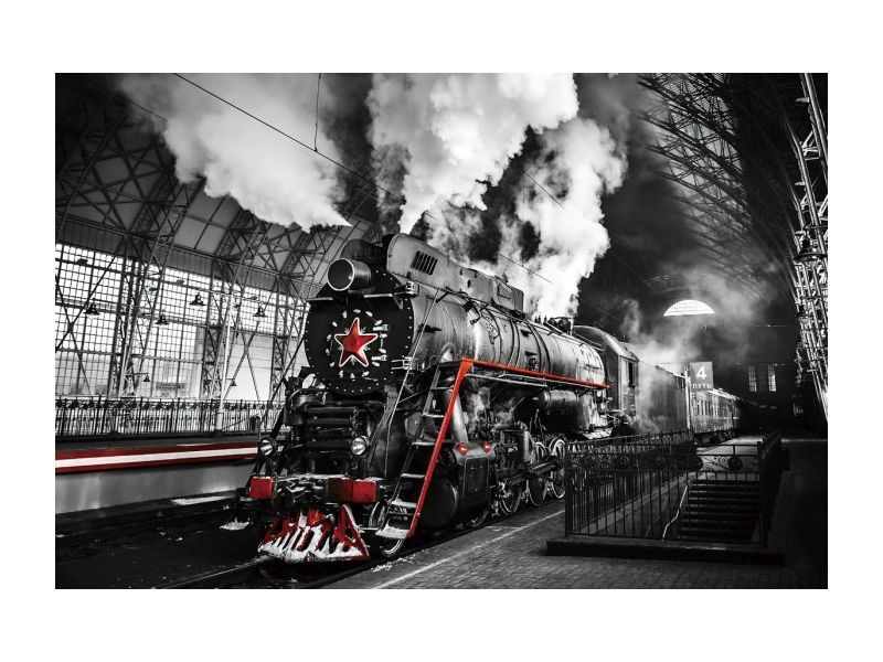 Signal Meble Locomotive Glass Painting 120x80cm