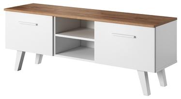 TV galds Vivaldi Meble Nord, brūna/balta, 1400x380x520 mm