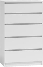 Top E Shop Malwa M5 Chest of 5 Drawers White