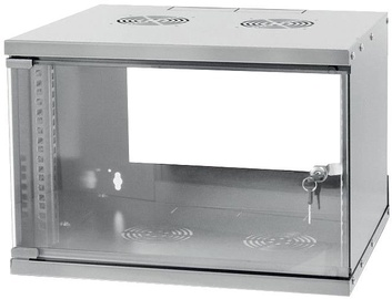 Серверный шкаф Techly Wallmount Cabinet ECO 19'' 6U/320 mm Glass Door Assembled Grey