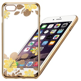 X-Fitted Yellow Flower Swarovski Crystals Back Case For Apple iPhone 6/6s Gold